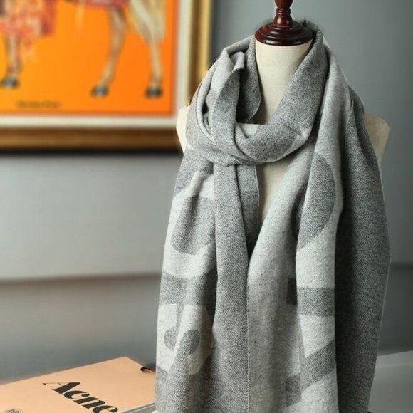 Acne studios Big logo wool scarf NWT Authentic